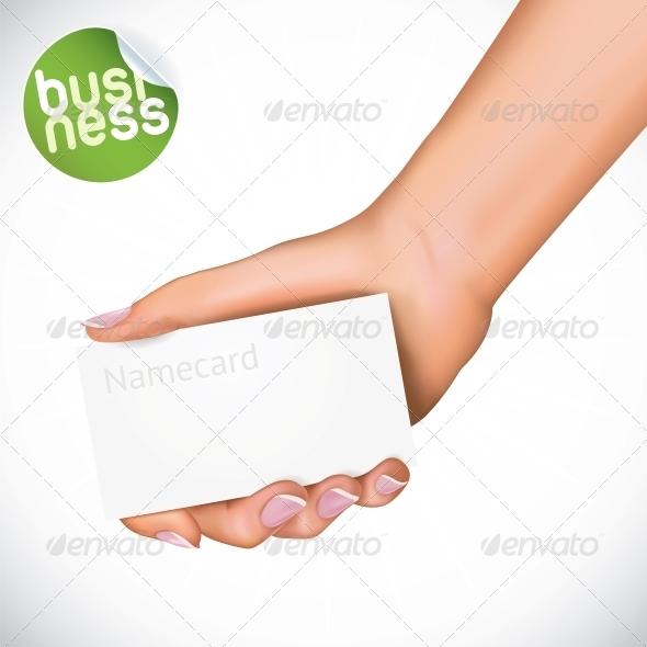 Hand Holding Name Card - Miscellaneous Conceptual