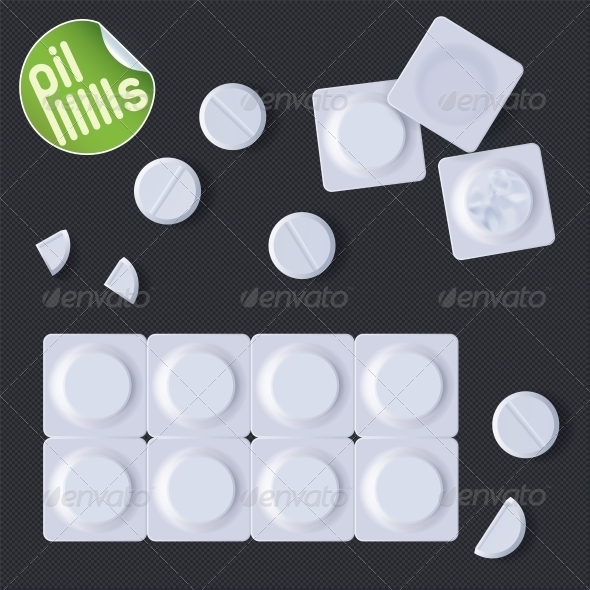 Pills In A Blister Pack - Miscellaneous Conceptual