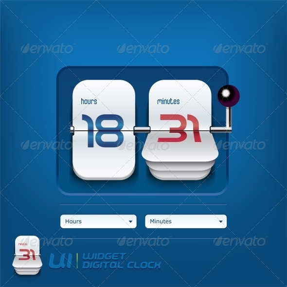 Digital Clock Illustration - Miscellaneous Conceptual