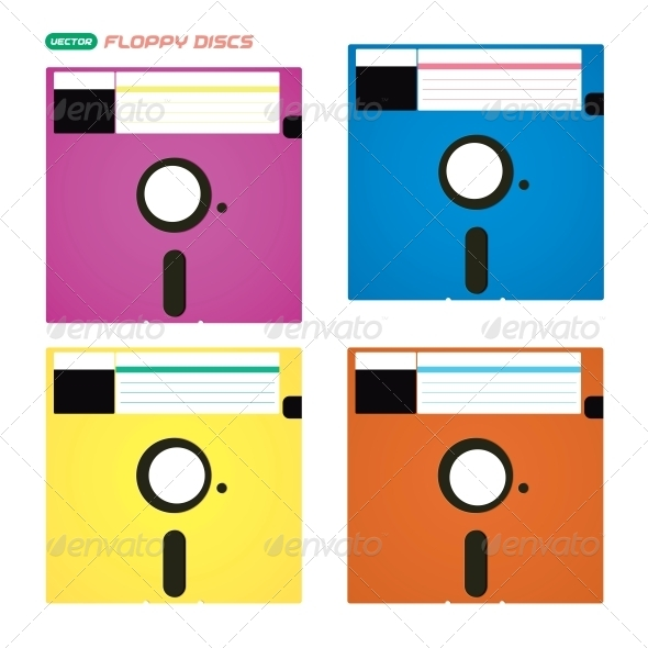 Floppy Disks Illustrations - Miscellaneous Conceptual