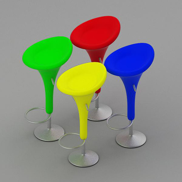 Bombo Bar Stool - 3DOcean Item for Sale