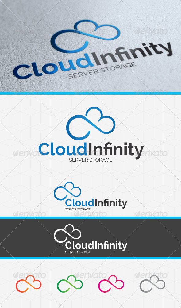 Cloud Infinity Logo Template - Symbols Logo Templates