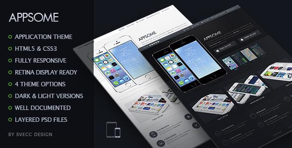 AppSome – Responsive & Retina Ready App Theme