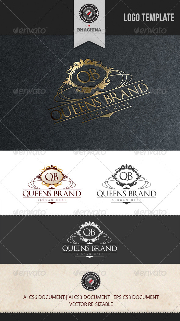 Queens Brand Logo Template - Crests Logo Templates