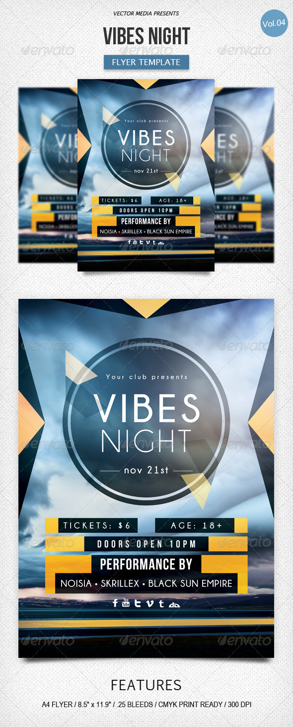 Vibes Night - Flyer [Vol.4] - Clubs & Parties Events