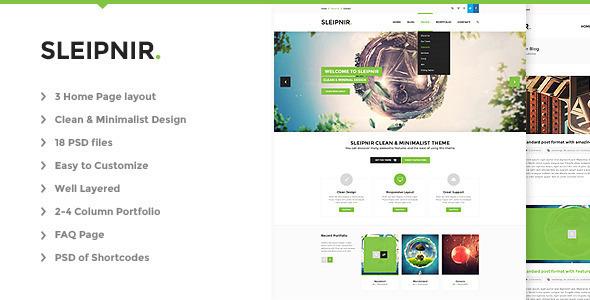 Sleipnir – PSD - Creative PSD Templates