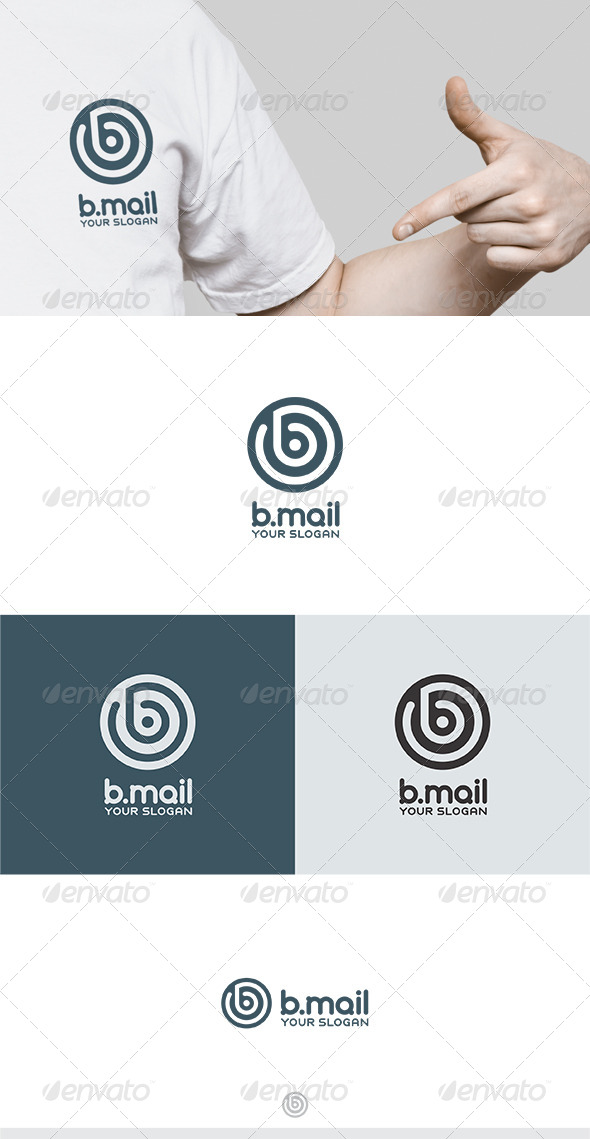 B Mail Logo - Letters Logo Templates