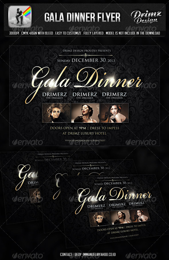 Gala Dinner Flyer - Events Flyers