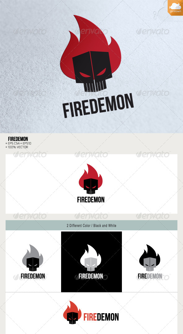 FireDemon - Humans Logo Templates