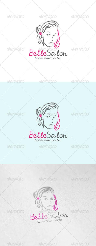 Belle Salon Logo - Humans Logo Templates