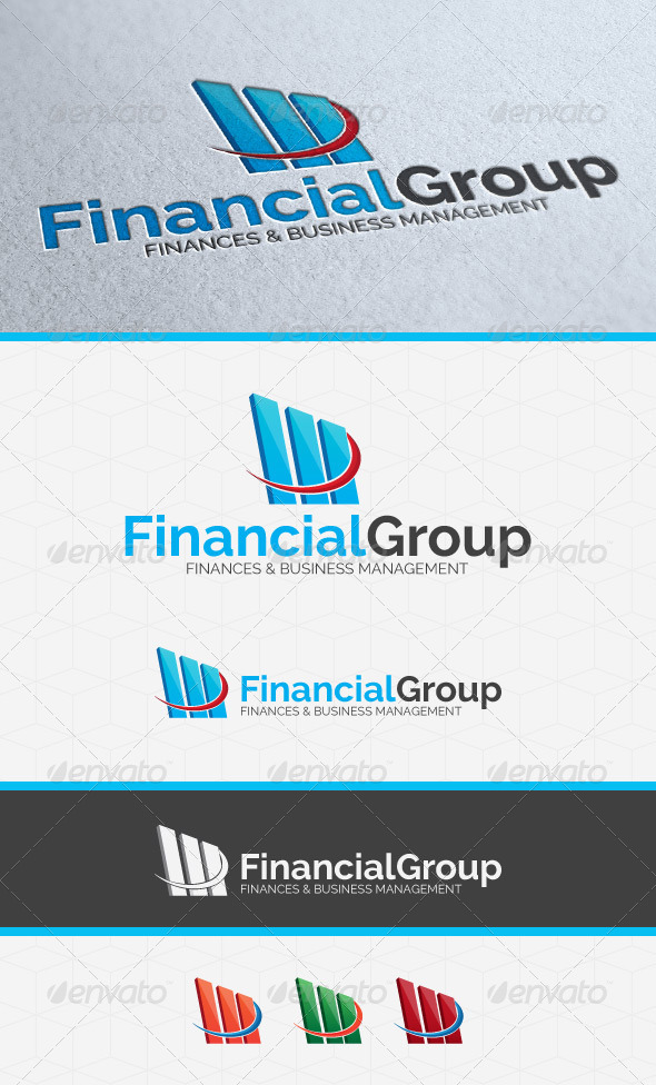 Financial Invest Group Logo Template - Symbols Logo Templates