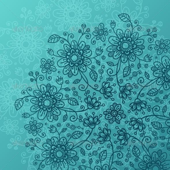 Sea Blue Flowers Background - Flowers & Plants Nature