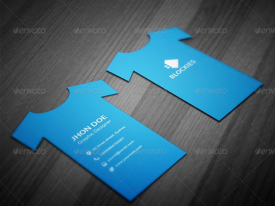 TShirt Business Card Template By Kazierfan GraphicRiver - Business cards templates