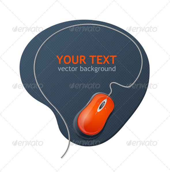 Vector Computer Mouse and Text - Web Technology