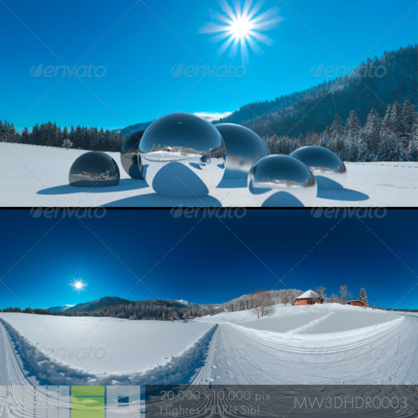 MW3DHDR0003 Snowy Winter Scene on Black Forest - 3DOcean Item for Sale