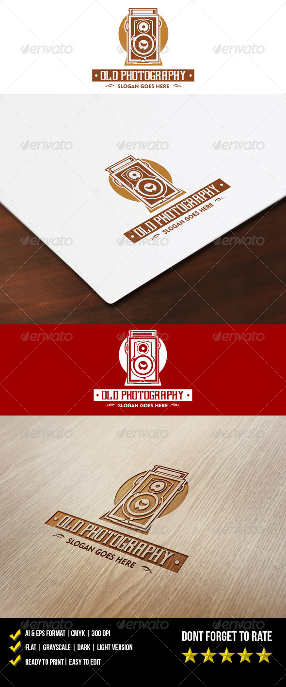 Old Photography Logo - Objects Logo Templates