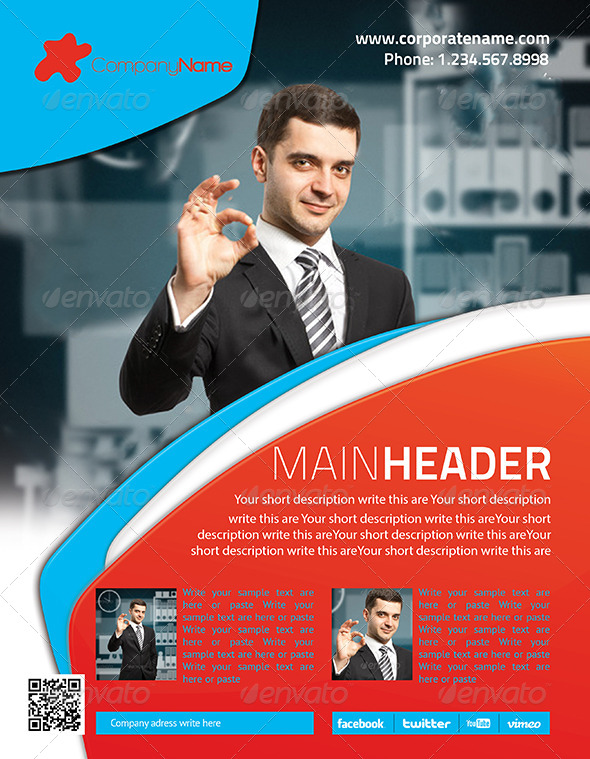 Corporate Flyer 6 PSD - Flyers Print Templates