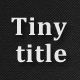 Tiny Title - CodeCanyon Item for Sale