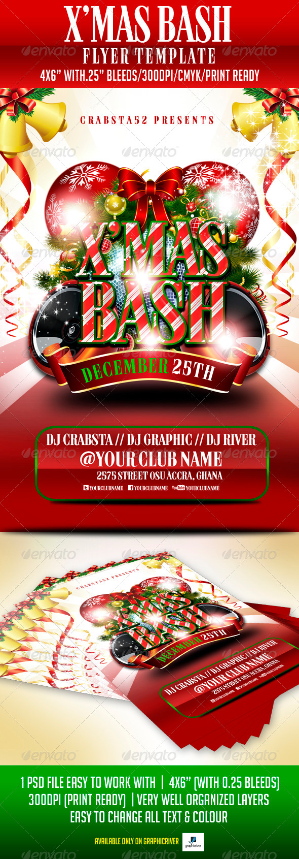 X'mas Bash Flyer Template - Flyers Print Templates