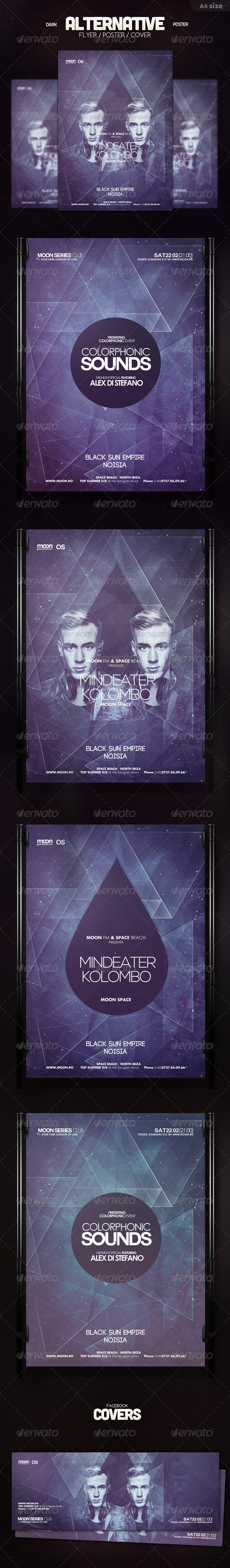 Dark Alternative Flyer - Clubs & Parties Events