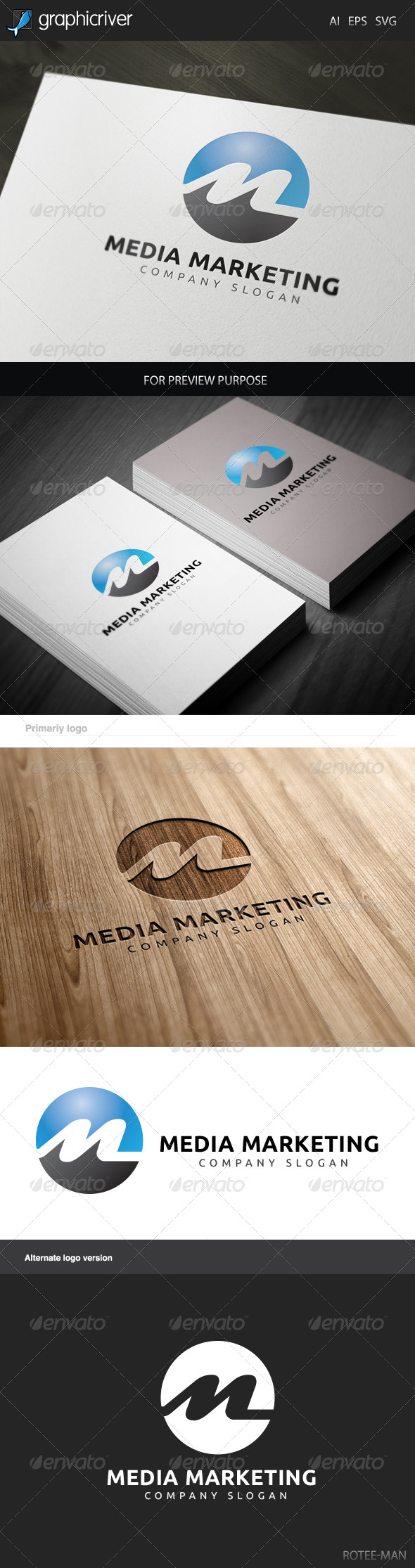 Media Marketing Logo - Letters Logo Templates