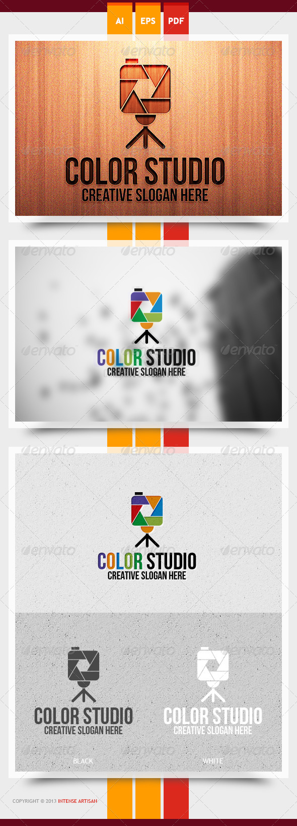 Color Studio Logo Template - Objects Logo Templates