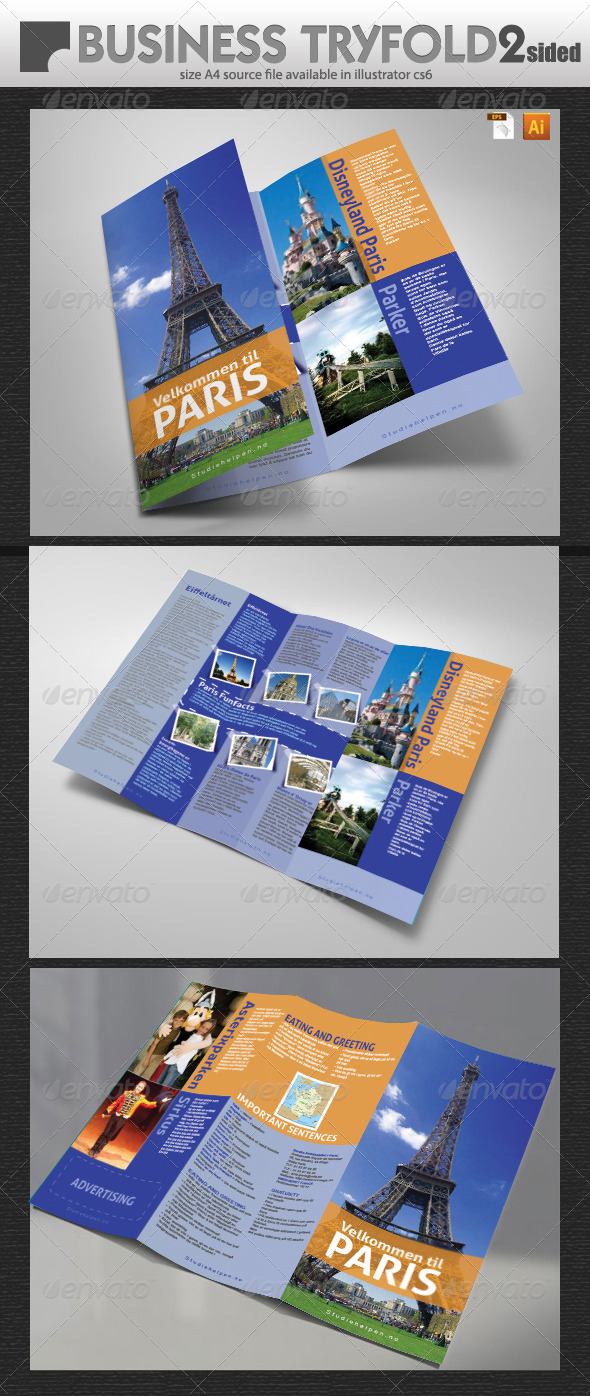 Tourist Guide Tri-Fold - Brochures Print Templates