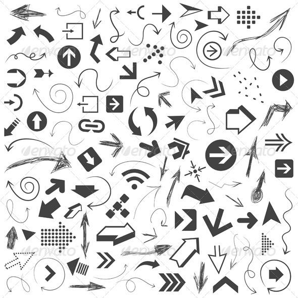 Arrow Drawing 8 - Miscellaneous Vectors
