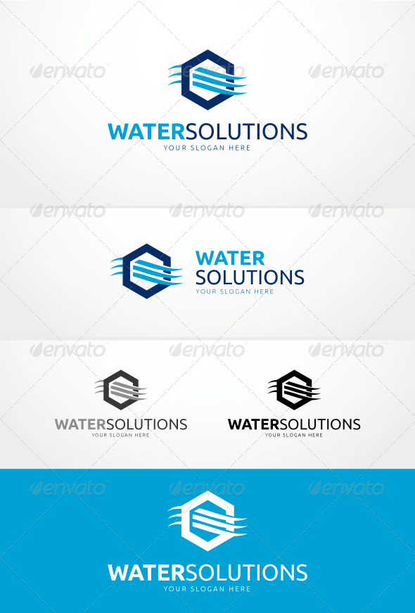 Water Solutions - Logo Template - Symbols Logo Templates