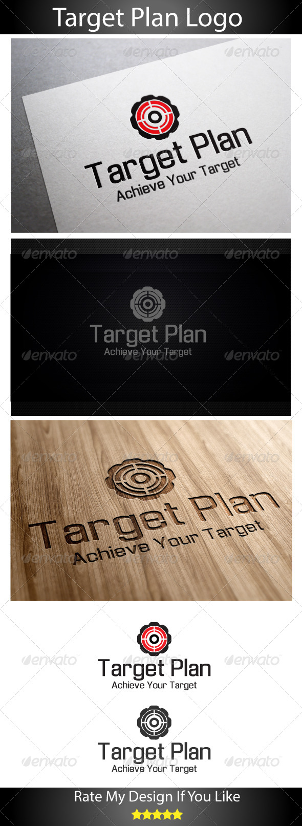 Global Target Plan - Vector Abstract