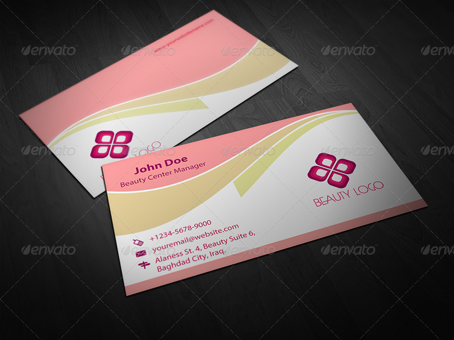 Beauty Salon Business Card Template Vol.1 by OWPictures | GraphicRiver