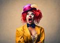Screaming Woman Clown  - PhotoDune Item for Sale