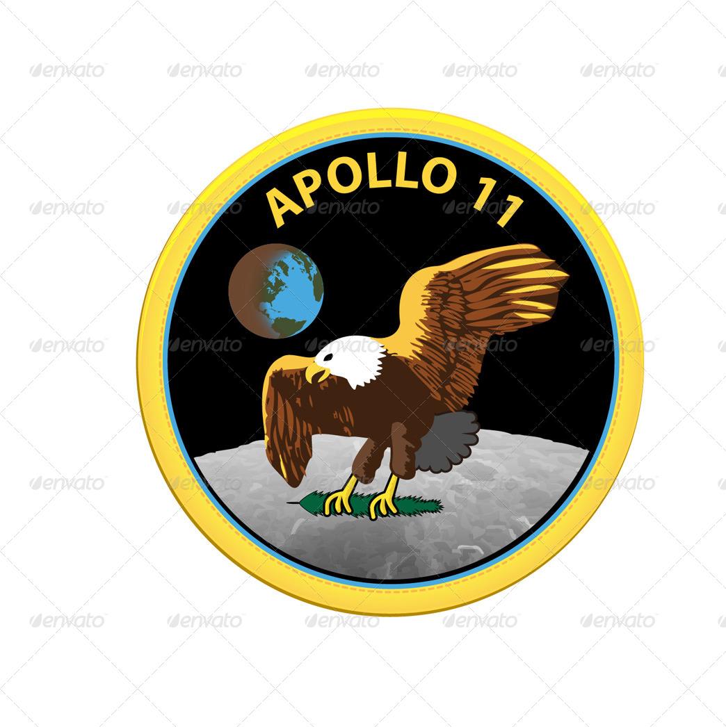 13 NASA Apollo Program Patches by Ozi84   GraphicRiver