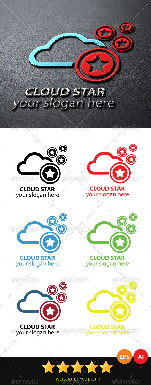 Cloud Star Logo - Logo Templates