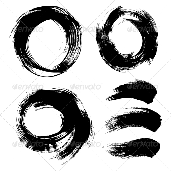 Round Textured Background Painted by Hand - Abstract Conceptual