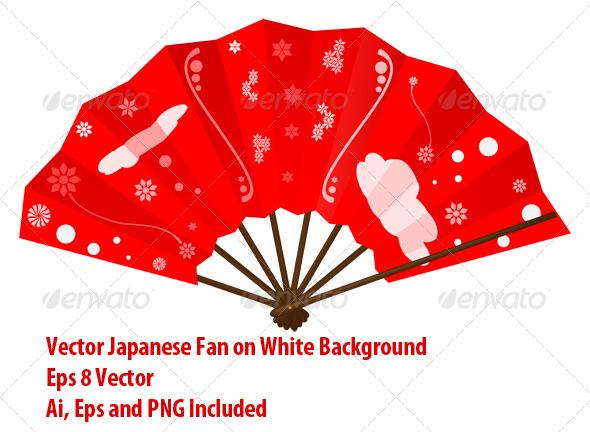 Japanese Fan - Man-made Objects Objects