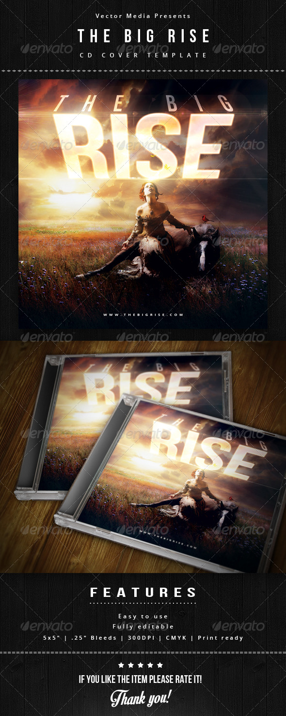 The Big Rise - Cd Cover - CD & DVD Artwork Print Templates