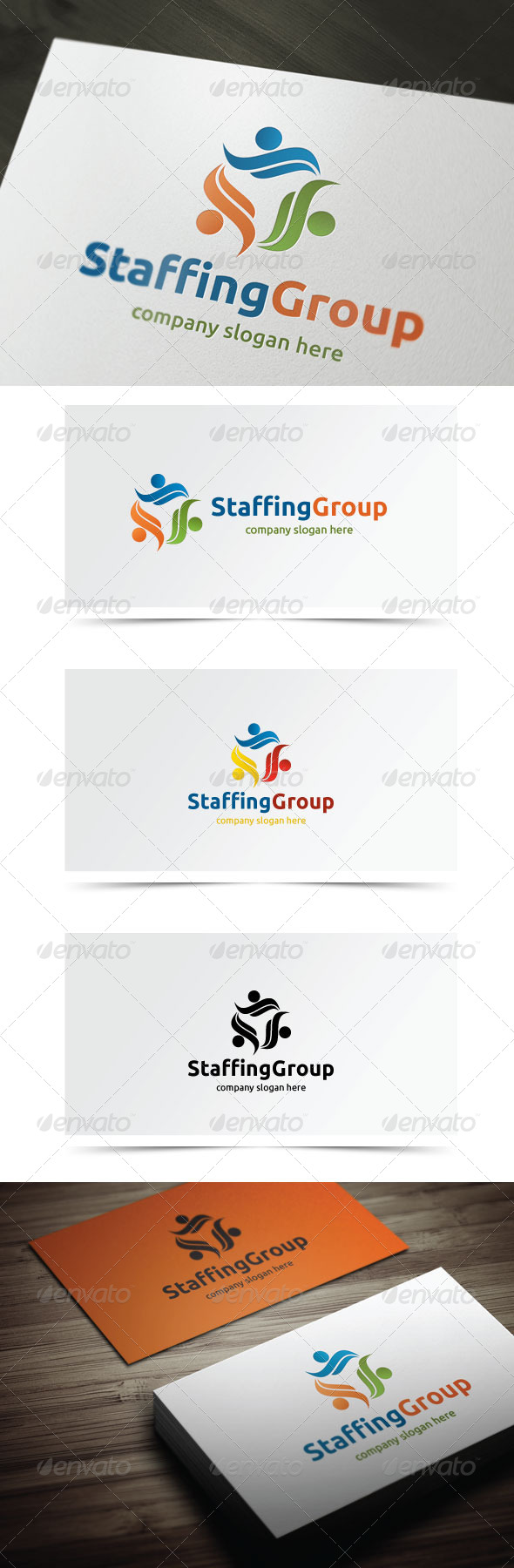 Staffing Group - Humans Logo Templates