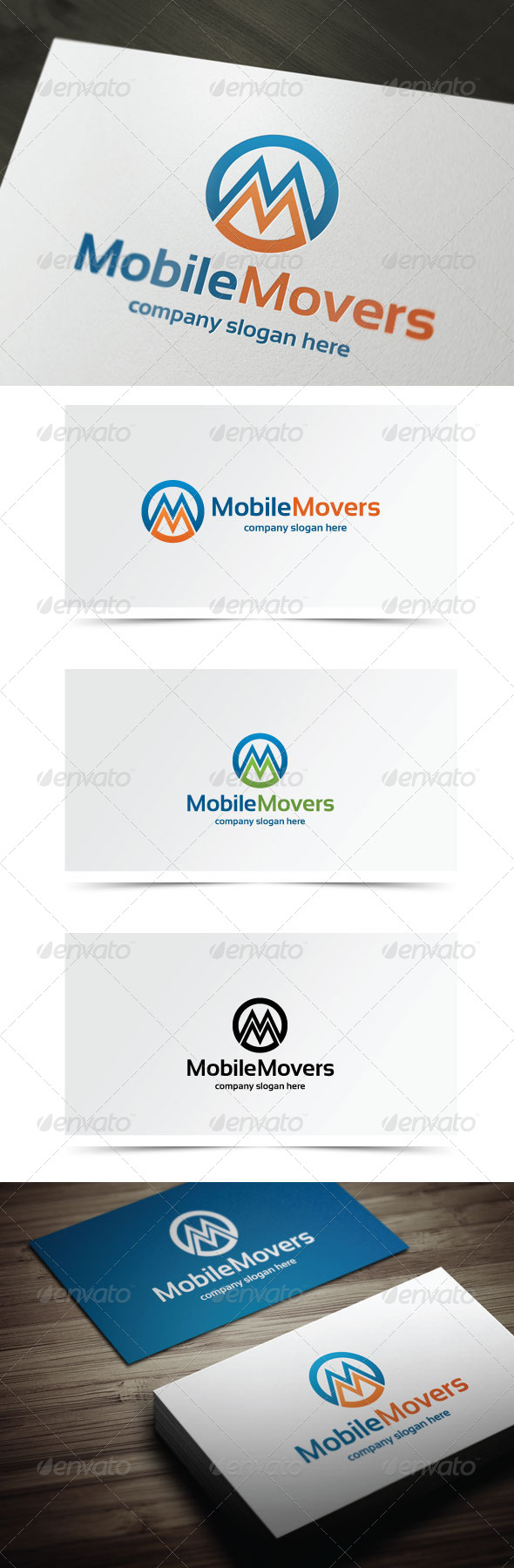 Mobile Movers - Letters Logo Templates