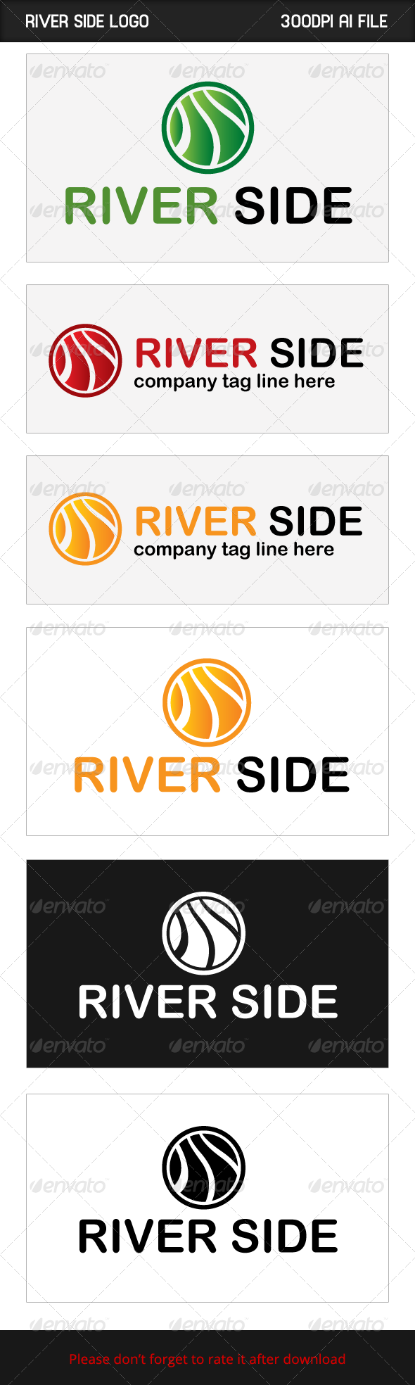 River Side - Logo Templates