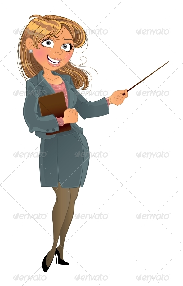 Woman with Pointer - People Characters
