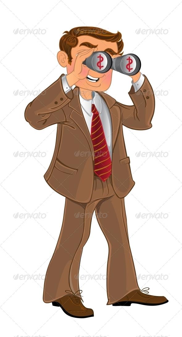 Man with Binoculars  - People Characters