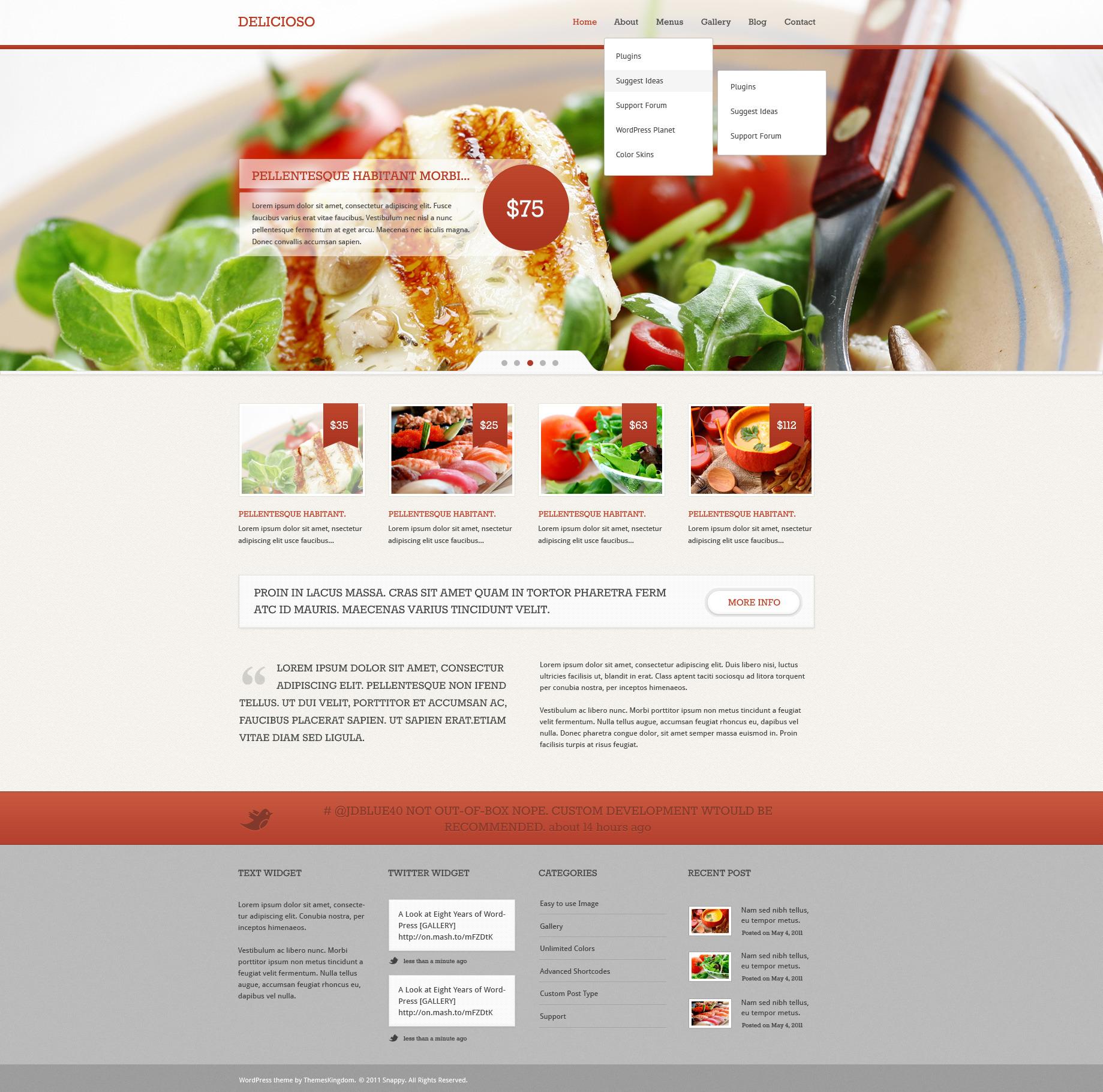 Delicioso - Delicious WordPress Restaurant Theme by cssmania ...