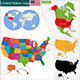 United States of America Map - GraphicRiver Item for Sale