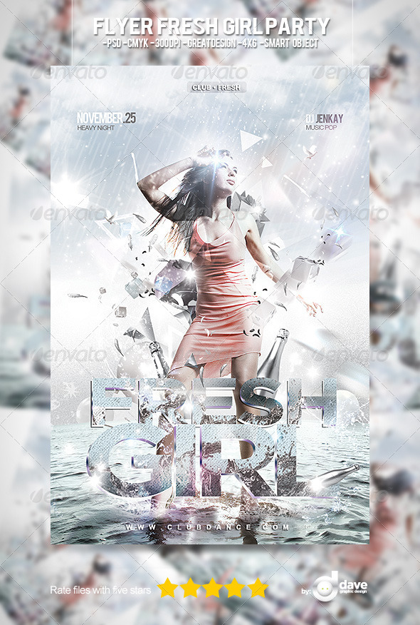 Flyer Fresh Girl Party - Clubs & Parties Events