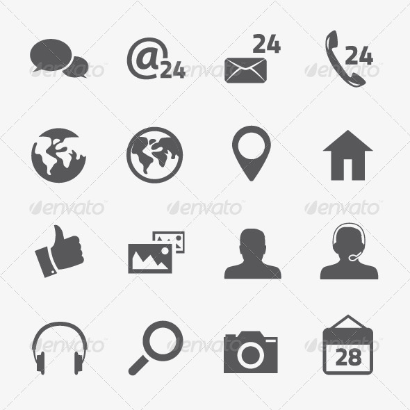 Social Media and Connection Vector Icons Set - Media Icons