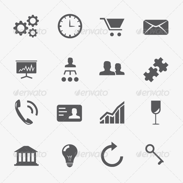 Business and Strategy Icons Vector Set - Business Icons