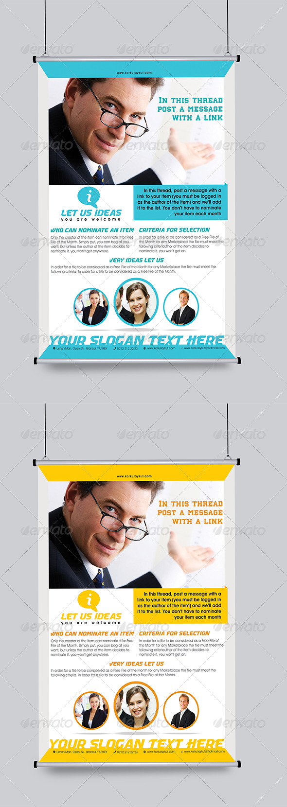 Let Us Ideas Flyer Template - Corporate Flyers