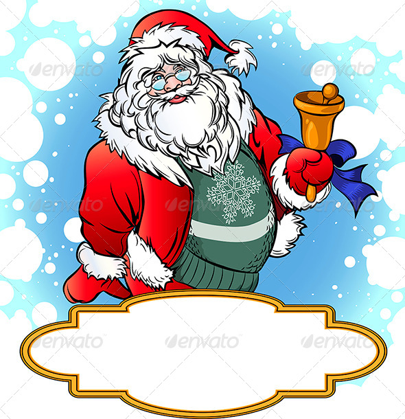 Santa with Bell - Christmas Seasons/Holidays