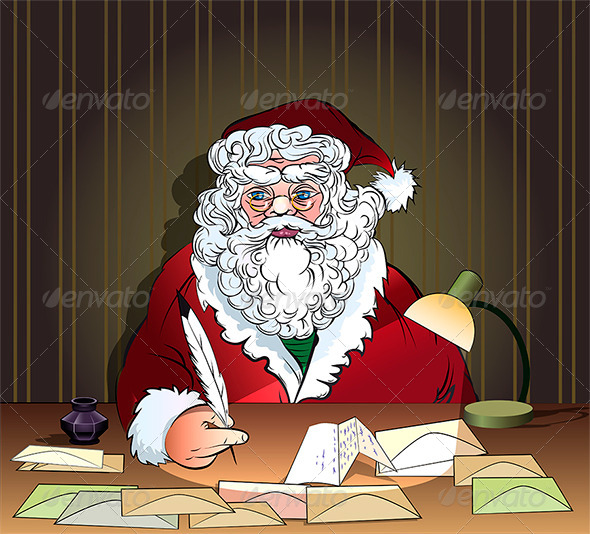 Santa and Letters - Christmas Seasons/Holidays